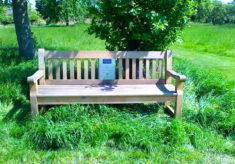 Touring listening bench sponsored by Friends of Historic Essex