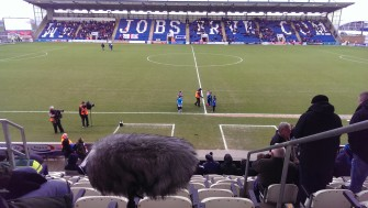 Before kick off at Weston Homes Community Stadium | Stuart Bowditch