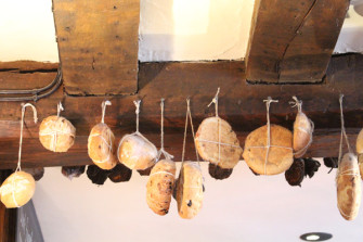 Hot Cross Buns hanging from the beams of The Bell Inn at Horndon-on-theHill. | Damien Robinson