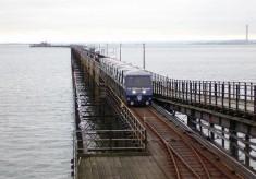 Pier, train, voices, 2015