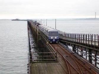 Train approaching shore terminus at Southend pier | Lee Scott