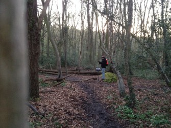 Recording the dawn chorus in Hockley Woods. | Josh Langan