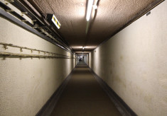 Kelvedon Hatch Secret Nuclear Bunker, entrance tunnel, 2016