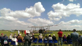BE2 WWI aircraft parked at Stow Maries Aerodrome | Stuart Bowditch