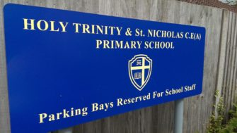 Chrishall Holy Trinity and St.Nicholas Primary School sign | Stuart Bowditch