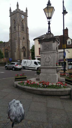 Halstead High Street, near the war memorial.   Stuart Bowditch