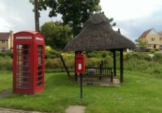 Red telephone box, North End Road, near Little Yeldham, 2016