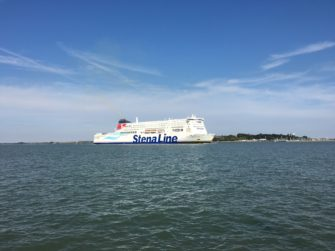 A Stena Line ferry passing Harwich Pier on its way out to sea | Ruth Philo