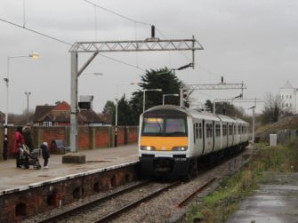 Photograph of train arriving at Colchester Town Station | Geof Sheppard