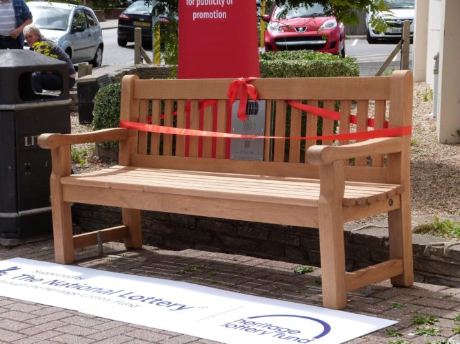 Photograph of listening bench outside West Cliff Theatre, Clacton   Terry Hutchinson