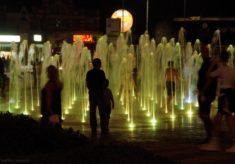 City Beach fountains, Southend, 2017