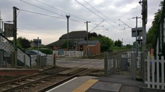 Station platform and level crossing at Great Bentley. | Stuart Bowditch