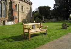 Castle Hedingham listening bench