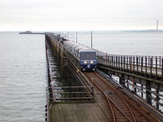 Train approaching shore terminus at Southend pier | Lee Scott