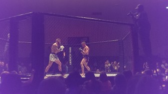 MMA contest inside 'the cage'   Stuart Bowditch