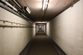 Entrance tunnel to the secret bunker. | Damien Robinson