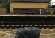 Four trains passing through Marks Tey, 2016