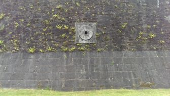 A feature on the wall of the moat at Harwich Redoubt | Stuart Bowditch