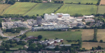 Aerial photograph of Basildon Hospital and surrounding fields | Terry Joyce