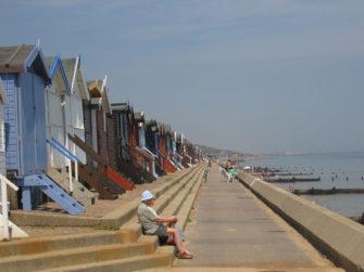 Photograph of beach huts along Frinton Beach | Mark Walley