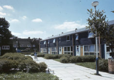 Decorating new houses in Harlow New Town, 1982
