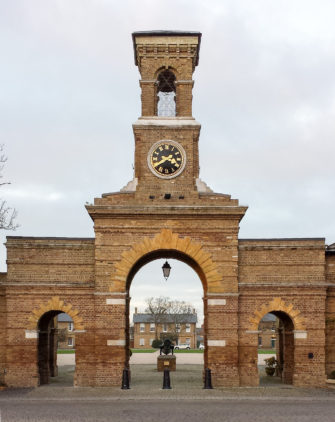 Photograph of garrison gatehouse and clock tower | DeFacto