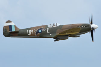 Photograph of Spitfire aeroplane in air | Alan Wilson