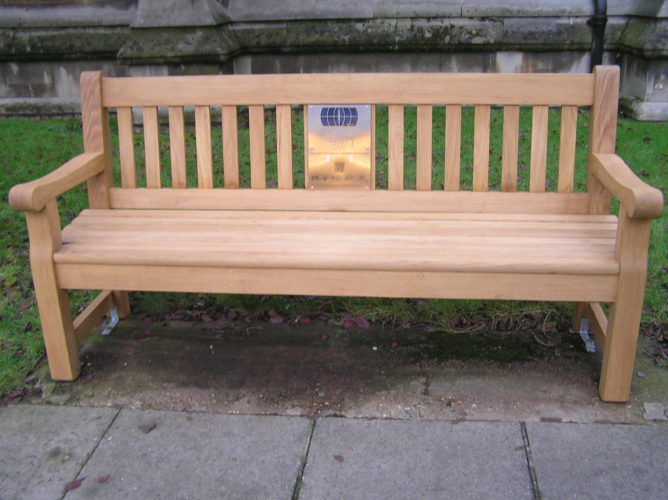 Picture of listening bench installed in St John the Baptist churchyard, Epping