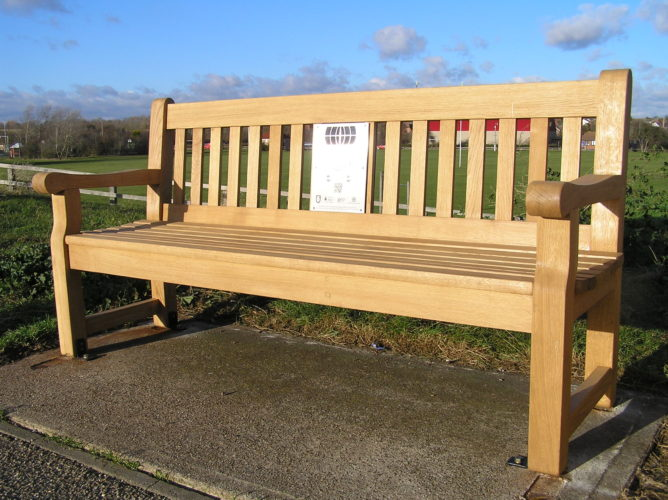 Listening bench installed on West Quay, Burnham