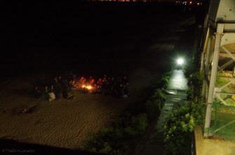 Joycelyn Beach camp fire