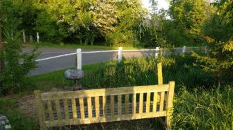 A bench and pond, Church Lane, Little Tey. | Stuart Bowditch