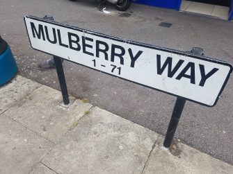 Picture of street sign for Mulberry Way, South Woodford | Andy Popperwell